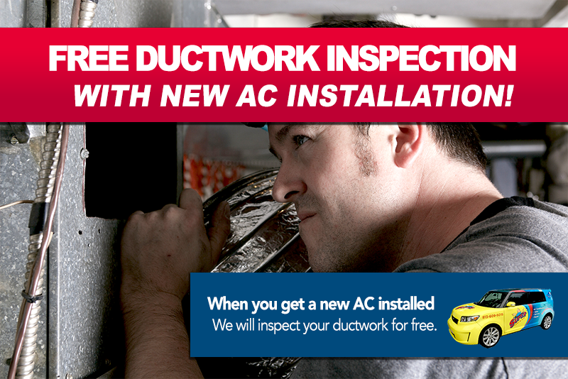 free ductwork inspection with air conditioner