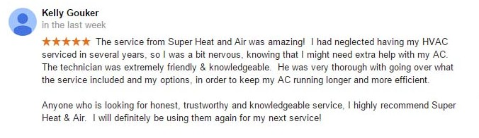 denis nuhic Super heat and air Google review