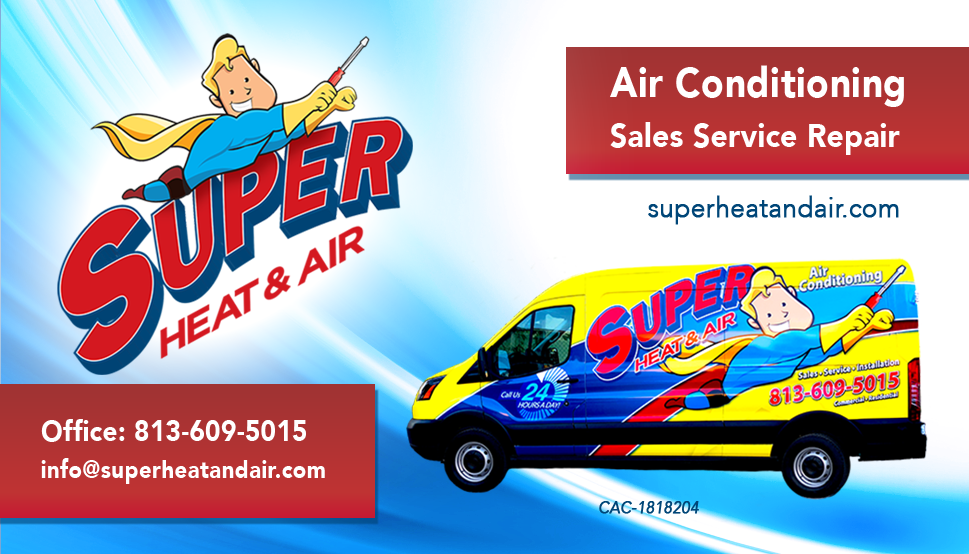 super heat and air tampa business card