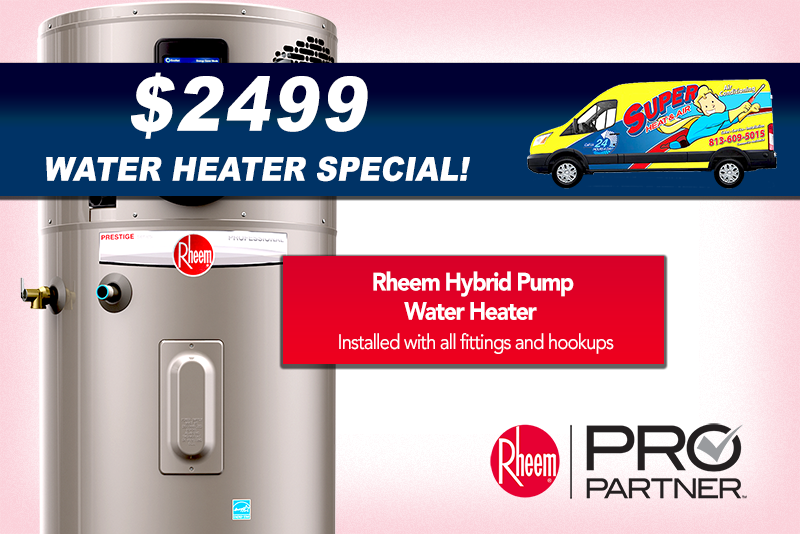 heat pump water heater special