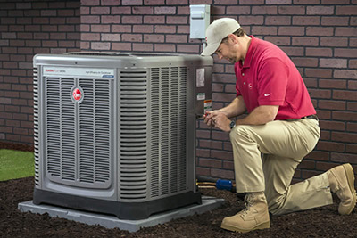 central heat and air installation